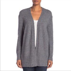 Madewell Grey Cozy Walker Wool Cardigan Sweater